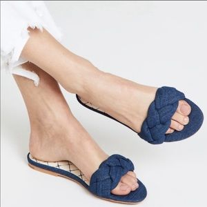Dolce Vita Kimana Braided denim chambray slides 8